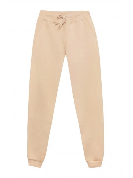 Теплые Бежевые штаны