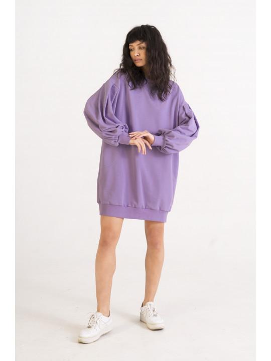 Лавандовое Платье-Свитшот