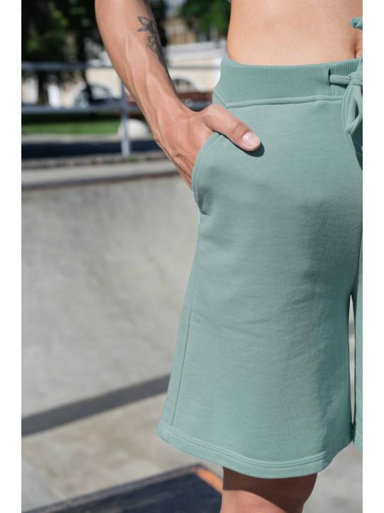 Мятные шорты с высокой посадкой
