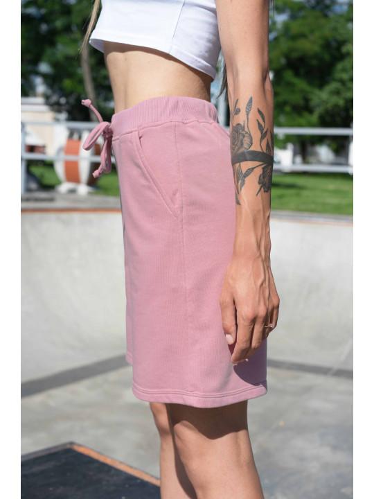 Розовые шорты с высокой посадкой / Шорты розового цвета Colo