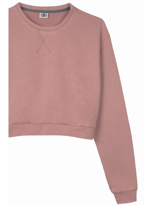 Розовый кроп свитшот