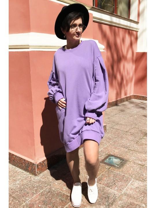 Платье свитшот лавандовое