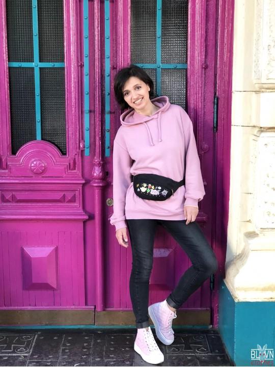 Розовый Оверсайз Худи