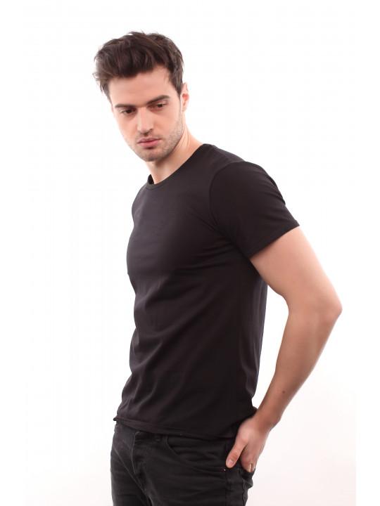 Черная базовая футболка
