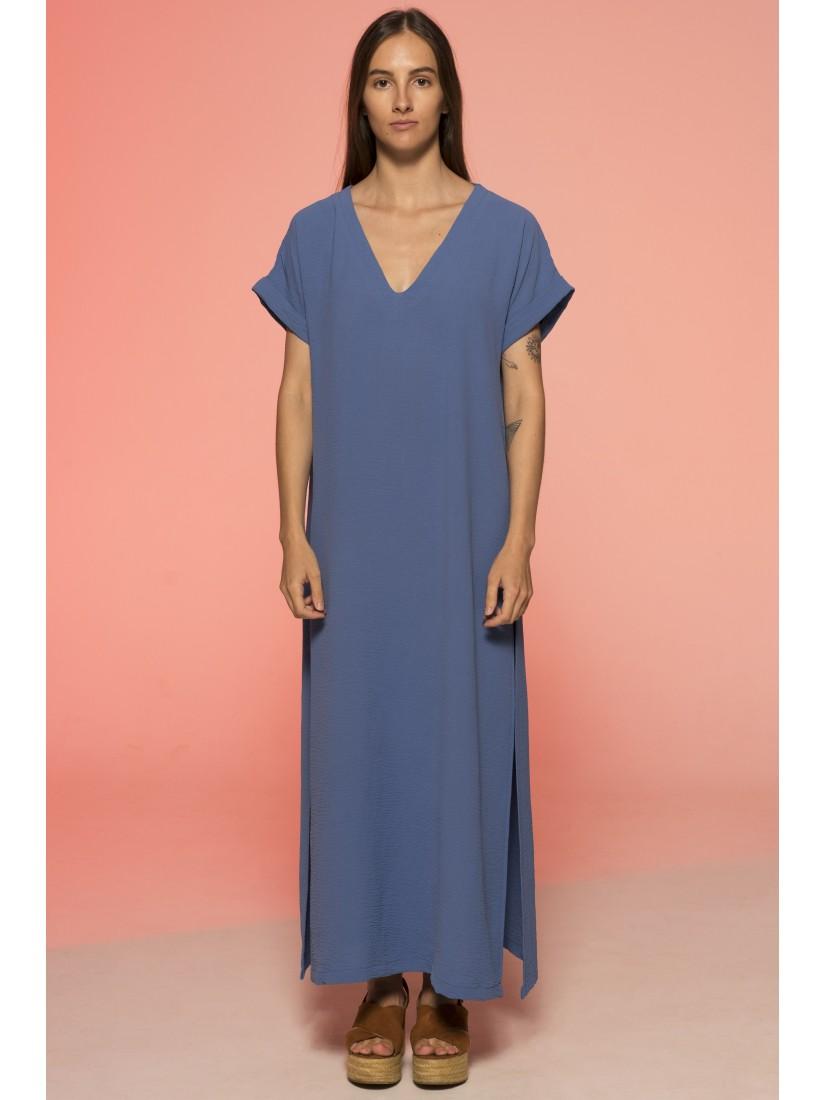 Платье Свободного Кроя (Синий)