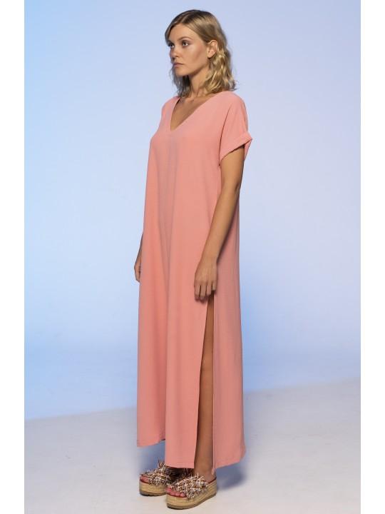 Платье Свободного Кроя (Лососевый)