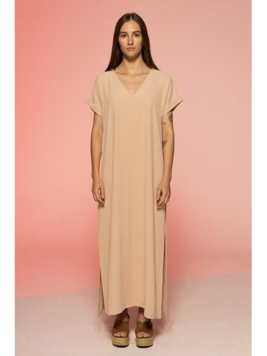 Платье Свободного Кроя (Бежевый)