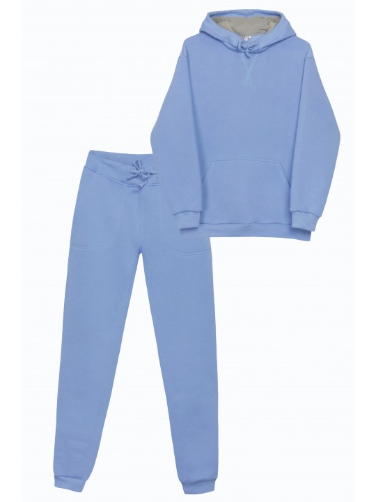 Теплый Голубой Костюм