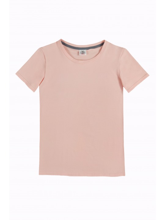 Персиковая базовая футболка