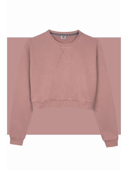 Кроп свитшот розовый женский