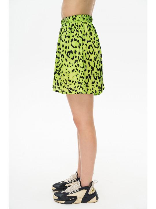 Леопардовые шорты-юбка цвета лайм Colo