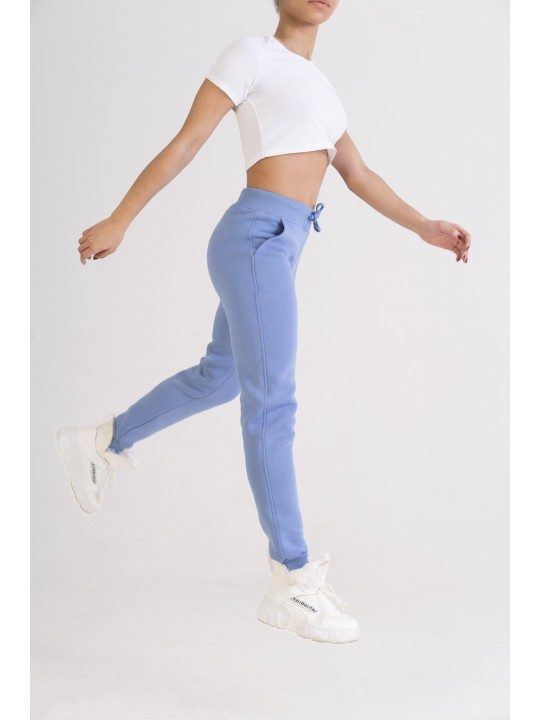 Теплые Голубые штаны