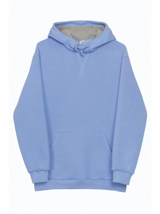 Базовый Голубой Худи