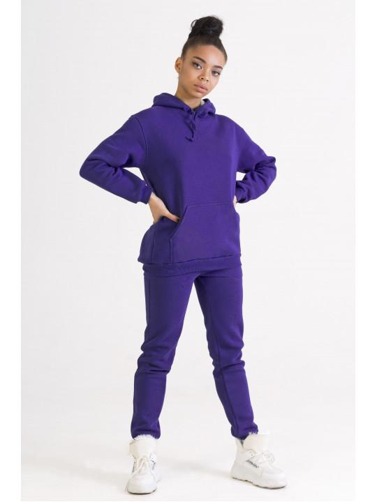 Теплый Спортивный Костюм Фиолетового Цвета